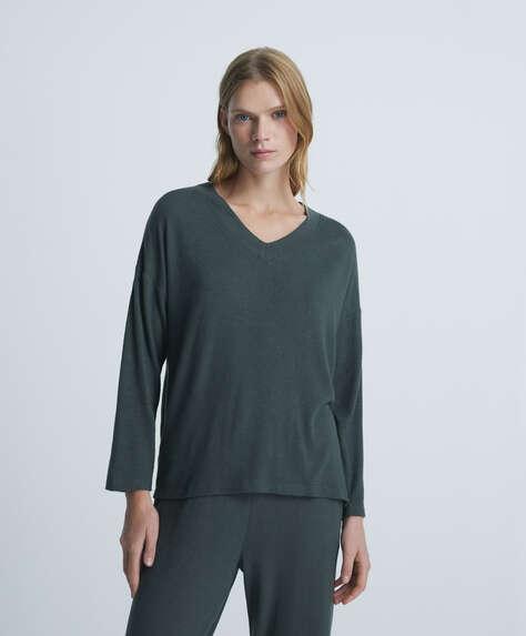 Long-sleeved comfort feel jumper
