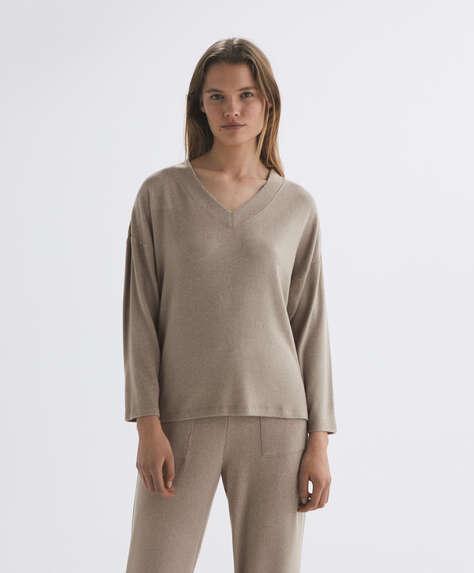 comfort feel 코튼 긴소매 스웨터