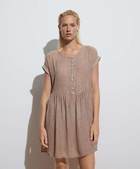 Korte jurk met vichy-ruit