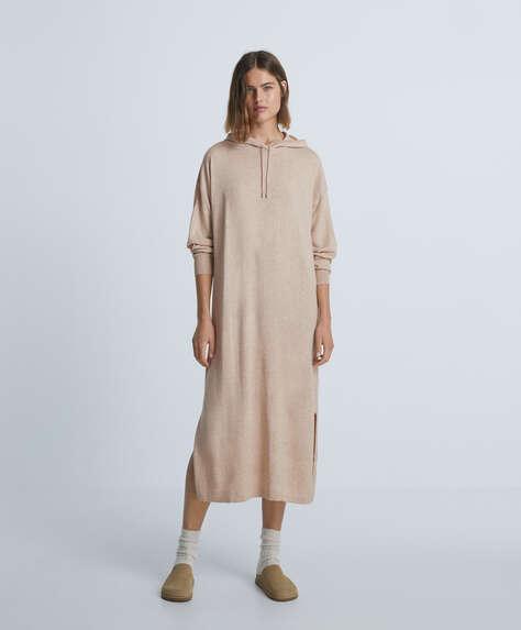 Long dress with hood
