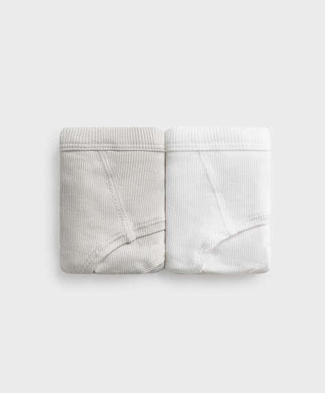 2 braguitas hipster algodón rib