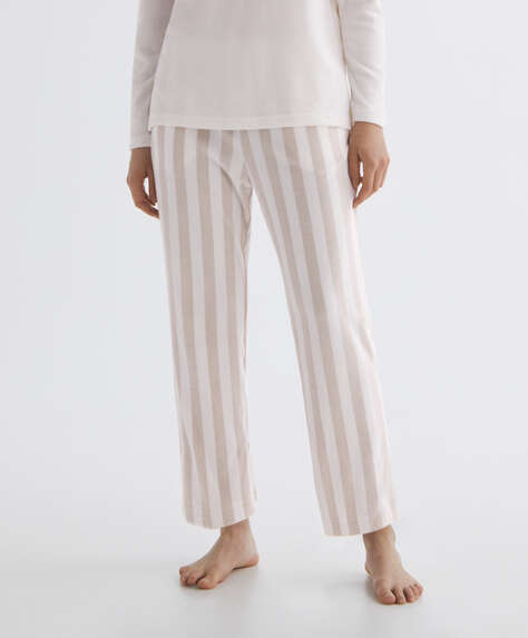 Stripe soft touch velour trousers