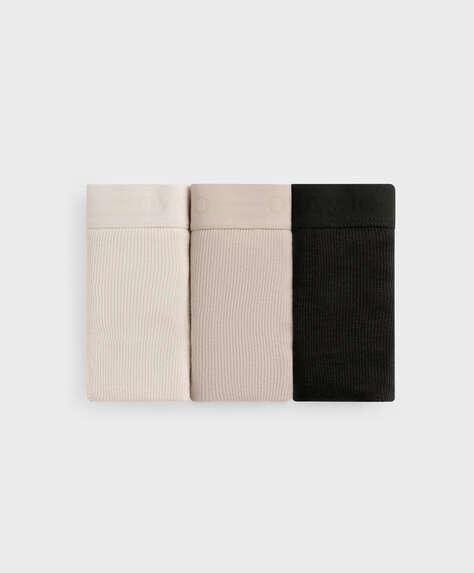 3 rib cotton classic briefs with logo elastic