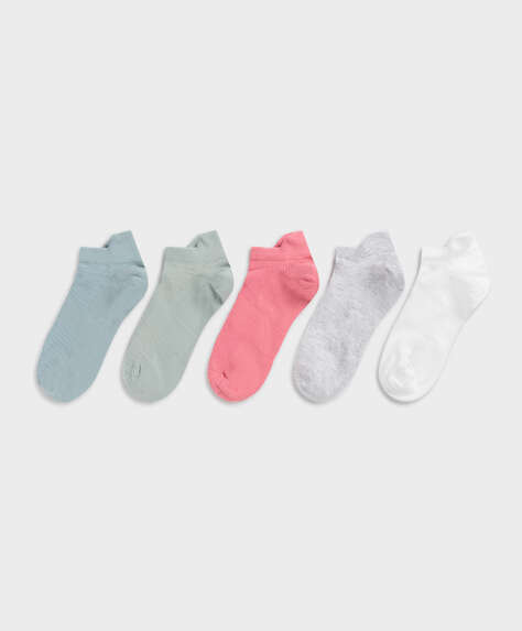 5 pairs of cotton sports ankle socks