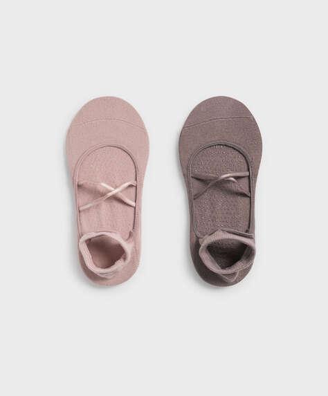 2 paire de chaussettes pour yoga et pilates