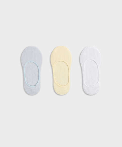 3 pairs of cotton cutwork footsies