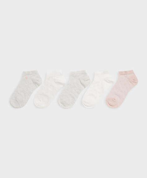 5 paires de socquettes avec coton structurées