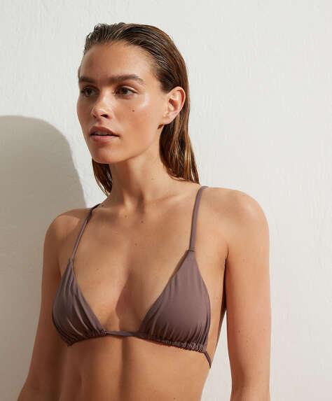 Slim triangle bikini top