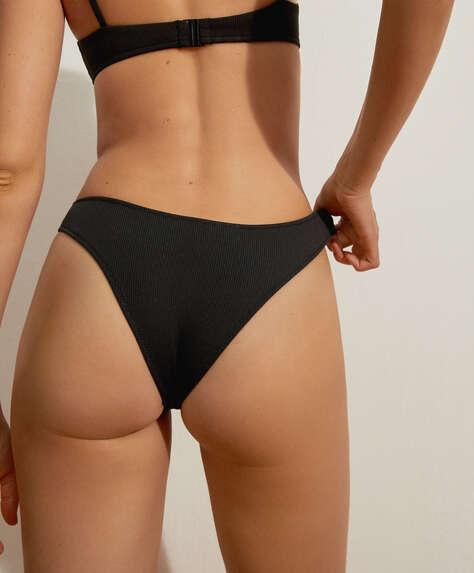 Slim rib Brazilian bikini briefs