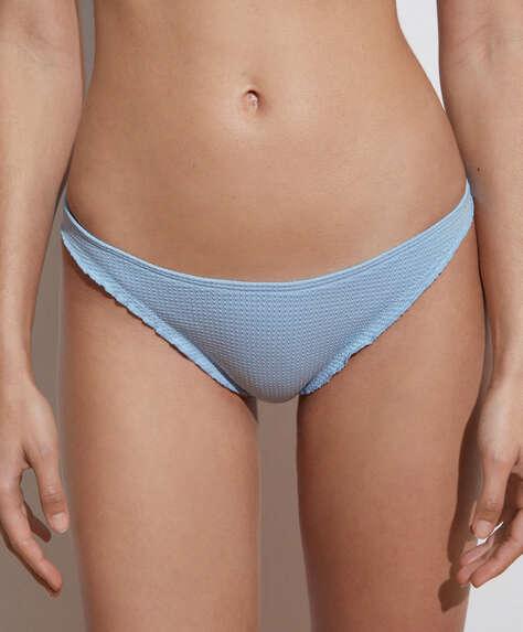 Seamless bikinibroekje met U-vorm en krulrand