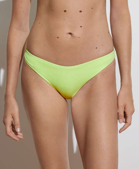 Bas de bikini classique rib à boutons-pression