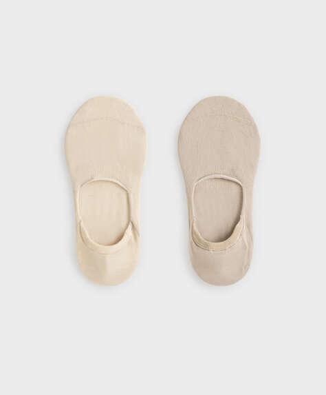 2 pairs of cotton footsies