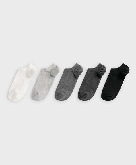 5 pairs of cotton ankle socks