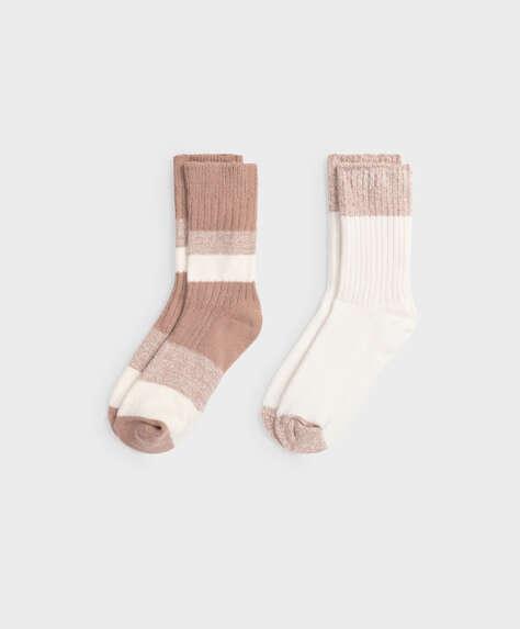 2 pairs of medium thick socks