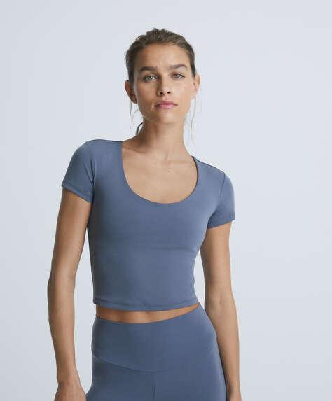 Comfortlux short-sleeved crop T-shirt