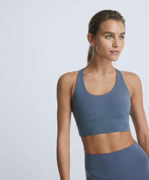 Strappy back sports bra