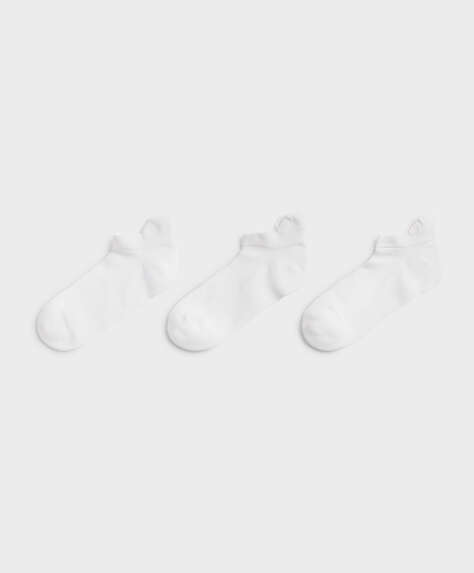 3 pairs of cotton sports ankle socks