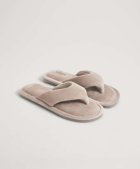 Mink velvet slim sandals