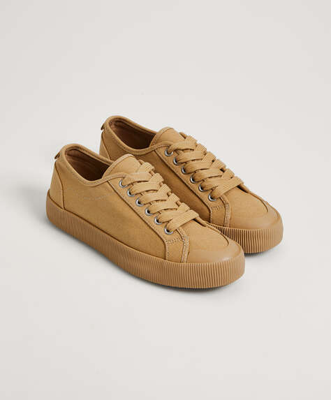 Flatform canvas trainers