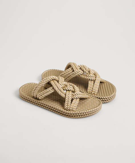 Rope rubber sandals