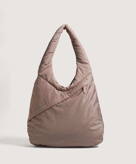حقيبة مبطنة بيضاوية الشكل