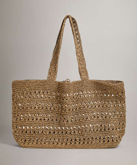Natural openwork shopper