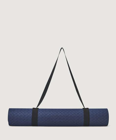 Blauwe yogamat 6mm