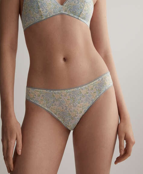 Floral tulle classic briefs