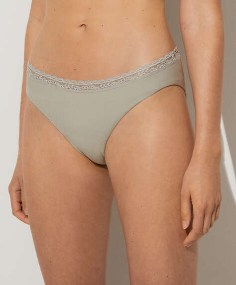 Lace seamless classic briefs