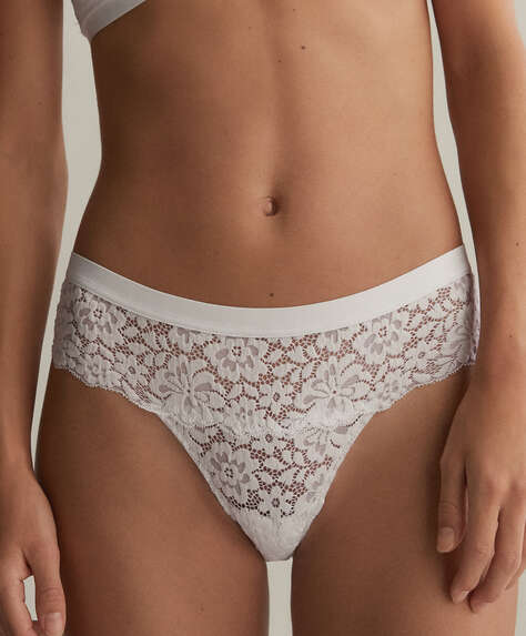 Lace hipster briefs