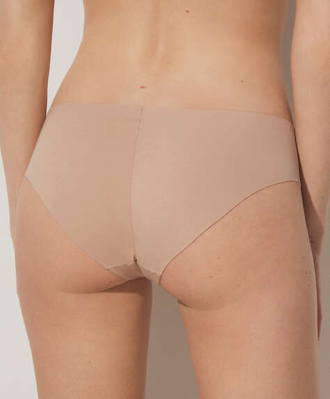 Laser-cut cotton hipster briefs