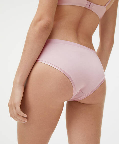 Hipster briefs with satin finish