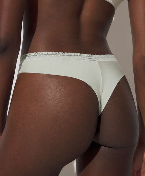 Modal and lace tanga briefs