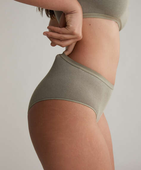 One size seamless high-waisted classic briefs