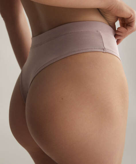 High-waisted soft-touch briefs