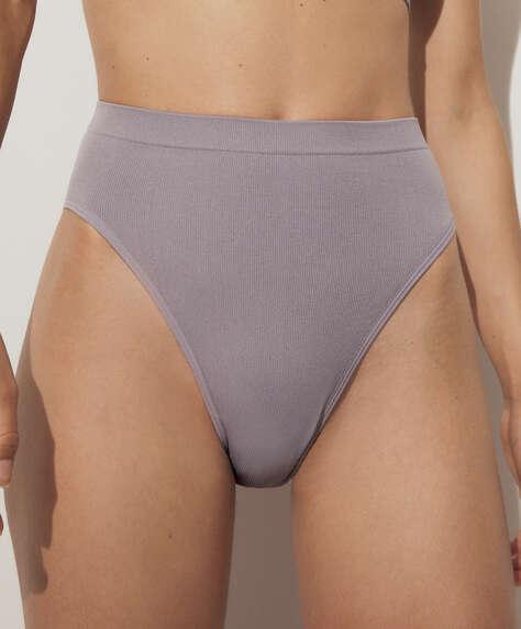 سروال داخلي برازيلي بفتحة ساق عالية seamless