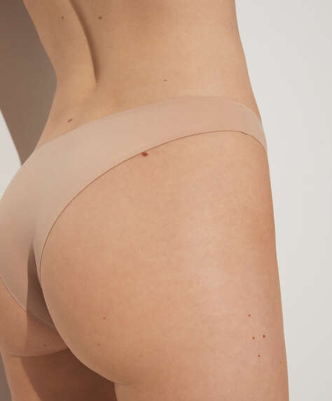 Microfibre invisible Brazilian briefs
