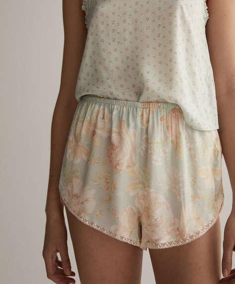 Floral lingerie shorts