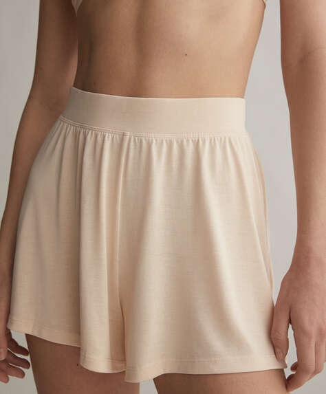 Plain soft-touch shorts