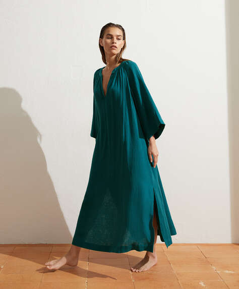 100% cotton voile kaftan