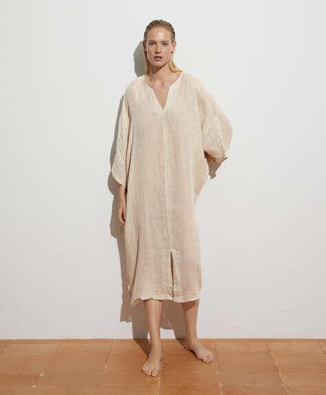Платье-кафтан oversize из 100% льна