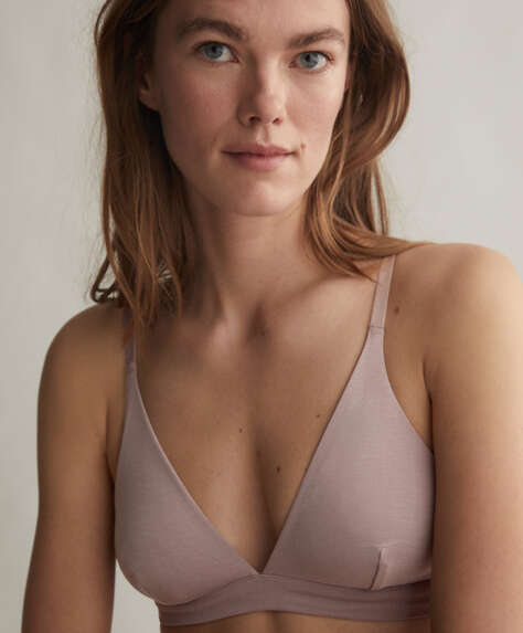 Soft touch triangle bra