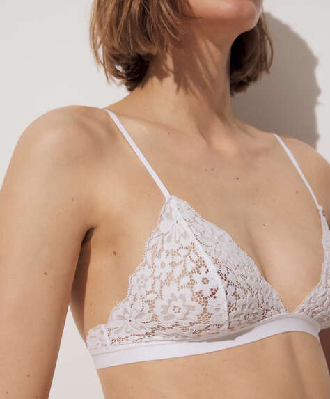 Lace triangle bra