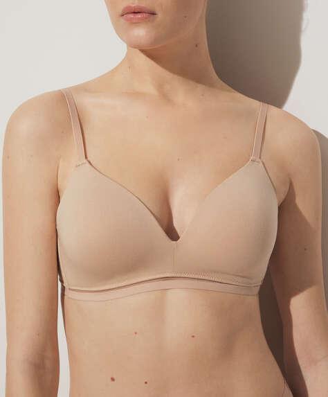 Cotton comfort support bra