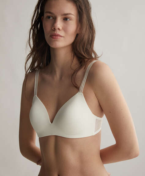 Microfibre comfort support bra