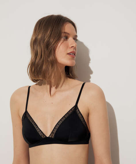 Comfort shortlace triangle bra