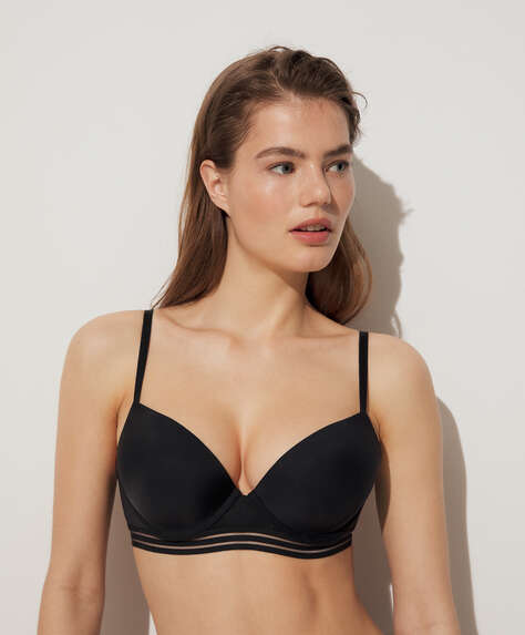 Reggiseno push up microfibra