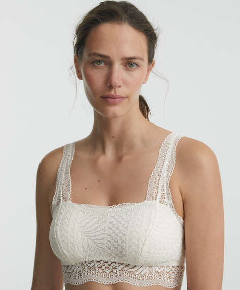 Square neck bralette top