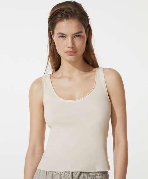 Camiseta sin mangas algodón