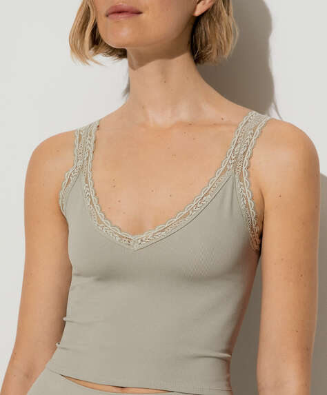 Top seamless pizzo bretelline